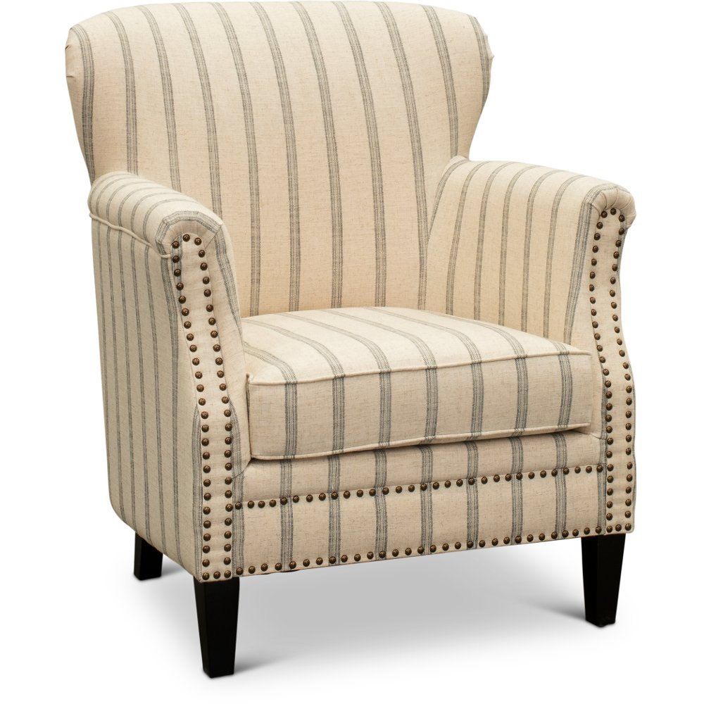 Tan Accent Chair With Brown And Black Stripes Layla In 2020 Tan Accent Chair Accent Chairs Furniture #tan #living #room #chair