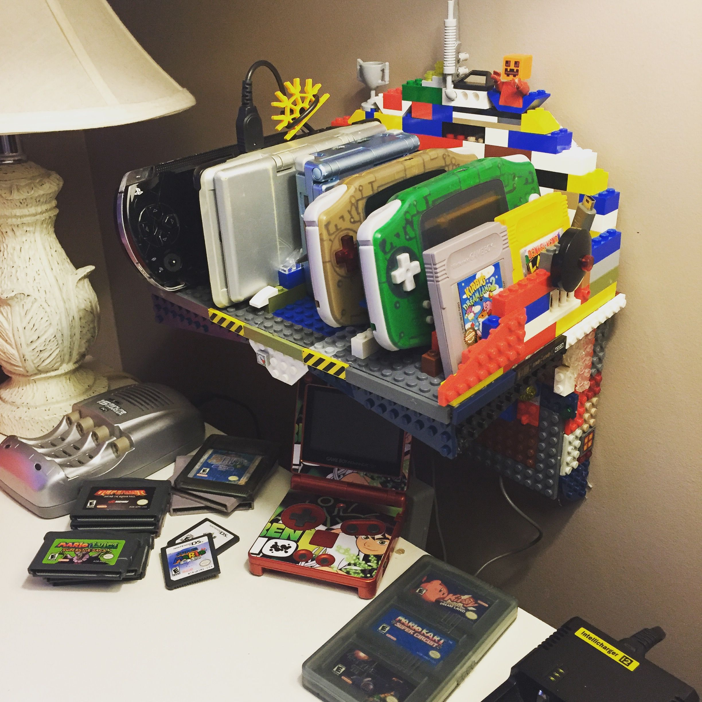 Made A Charging Station Out Of Legos For My Handhelds