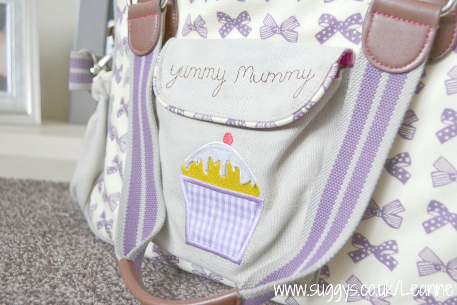 Name of Child with Yummy Mummy Personalised New Baby Present Pram Bag pin