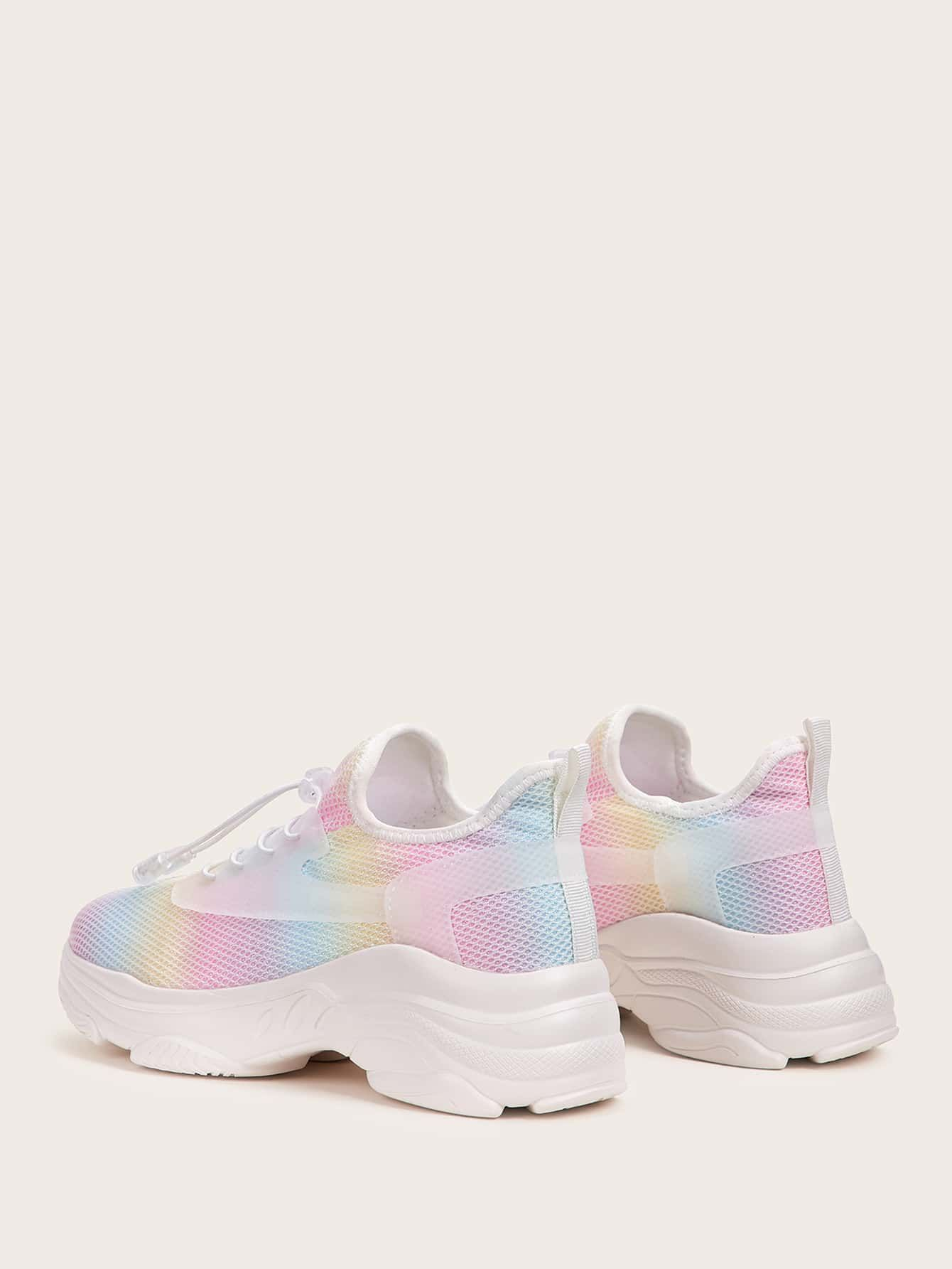 Ad: Tie Dye Lace-up Chunky Sneakers