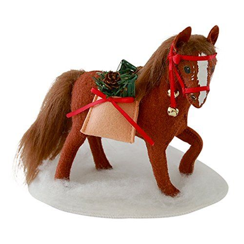 """MerryMint Horse 8"""" Christmas Holiday Decoration Display by Annalee Doll"""