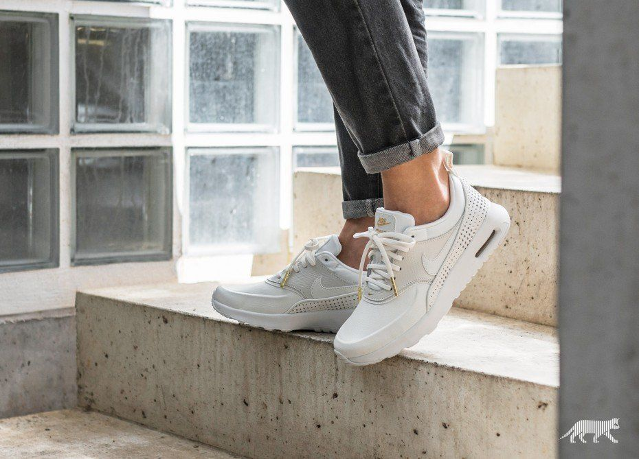 on sale 43a07 9bc04 Nike Wmns Air Max Thea SE PRM  Beautiful x Powerful  (Summit White   Summit  White - Metallic Gold)
