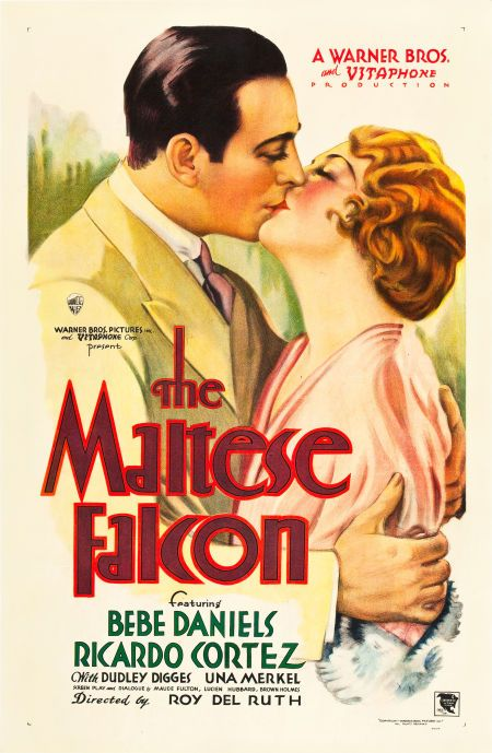 Image result for the maltese falcon film poster 1931 version
