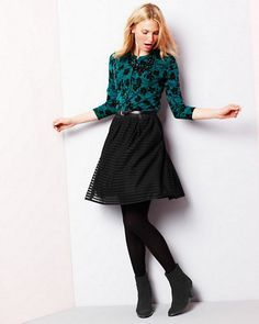ff44ef40cb business casual skirt tights - Google Search