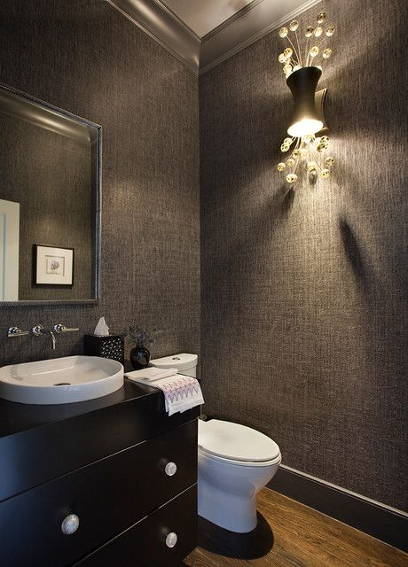Image Gallery Website Back Bay Cool and Sexy contemporary powder room