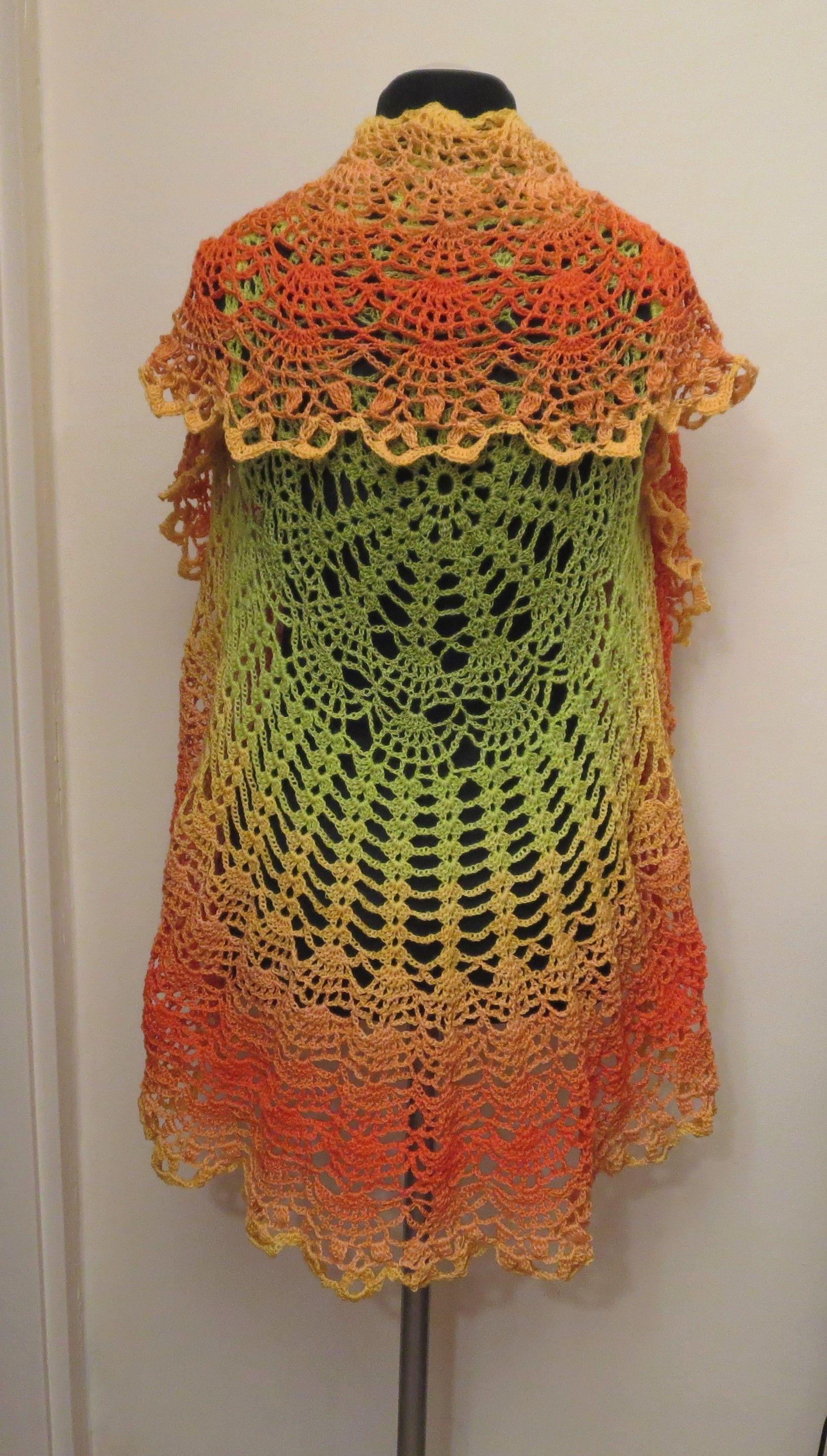 Pin Van Marva Vlaun Op Circular Vest Crochet Free Crochet En Shawl