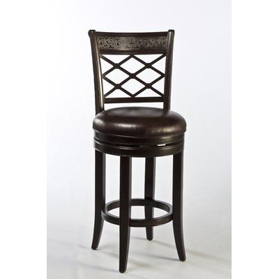 This Contemporary Adelphi Swivel Bar Stool With Cushion Is Both
