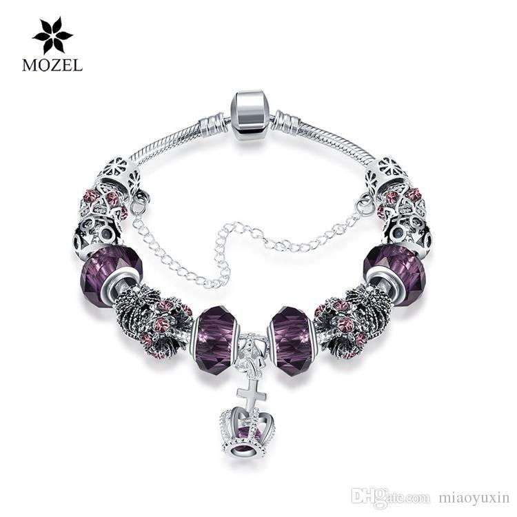 Fashion 925 Silver Crystal clown Charm European Beads Fit Necklace Bracelet !!