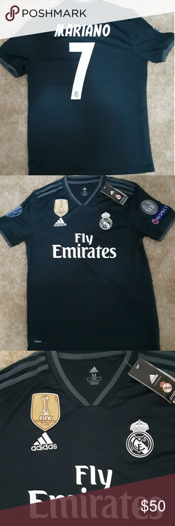 Real Madrid Away 18 19 Jersey MARIANO 7 Real Madrid Away 18 19 Jersey  MARIANO 7 -Top quality product -Fast 1-3 days shipping adidas Shirts Tees -  Short ... 7fade344b
