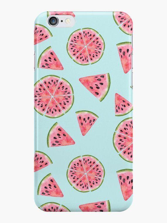 detailed look 8cc33 3a2eb Watermelon Phone Case, iPhone 7 Case, iPhone 8 Case, Watermelon ...
