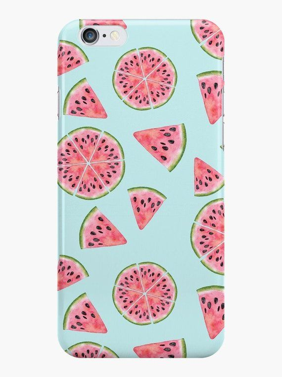 detailed look 3c47e 7c02c Watermelon Phone Case, iPhone 7 Case, iPhone 8 Case, Watermelon ...
