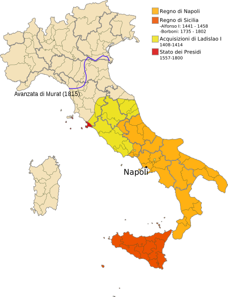 File Map Of Italy Regno Di Napoli Svg Wikimedia Commons Italy Map Kingdom Of Naples Map