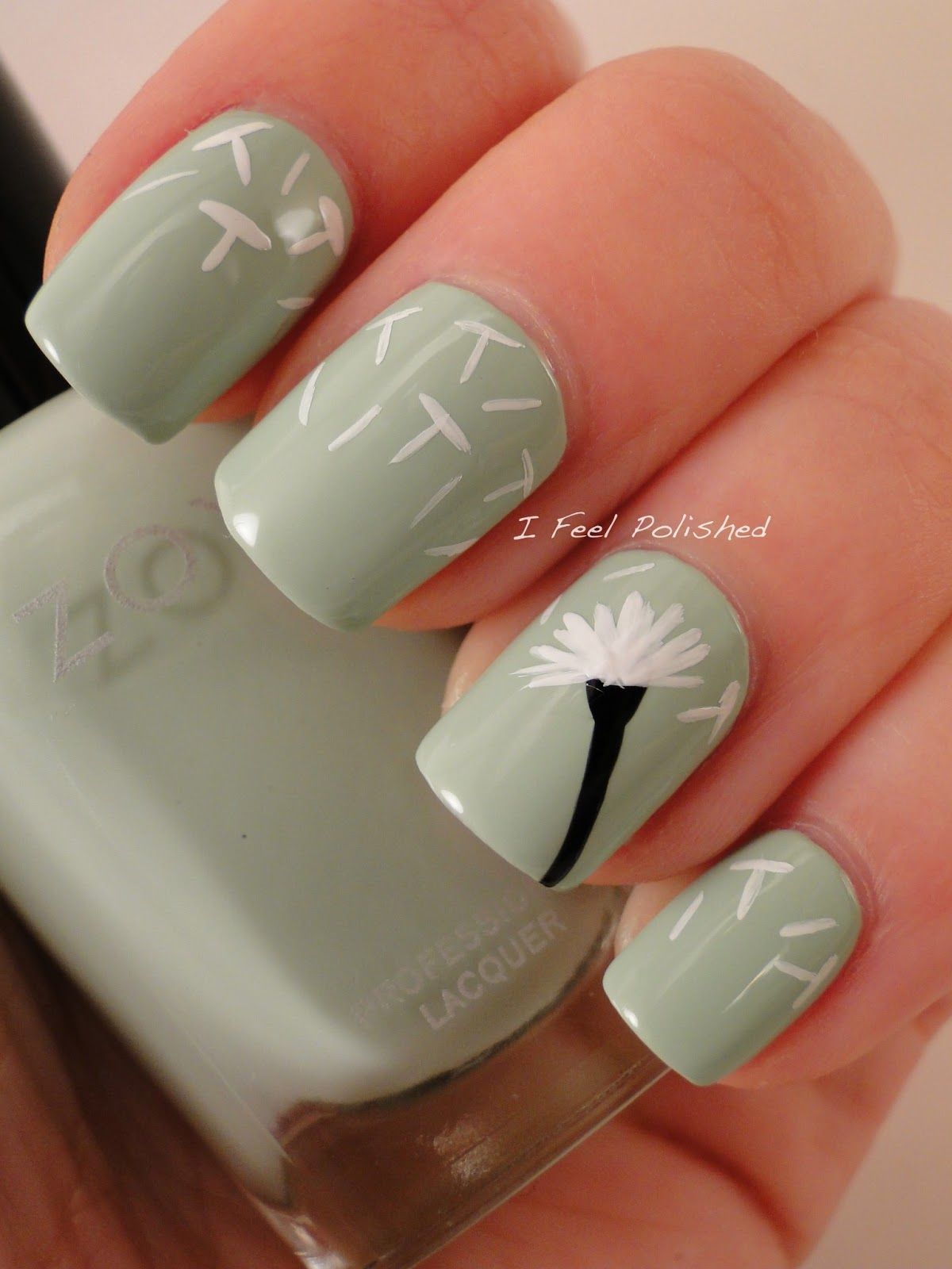 Dandelion Nails featuring Zoya Nail Polish in Neely | Nail Art ...