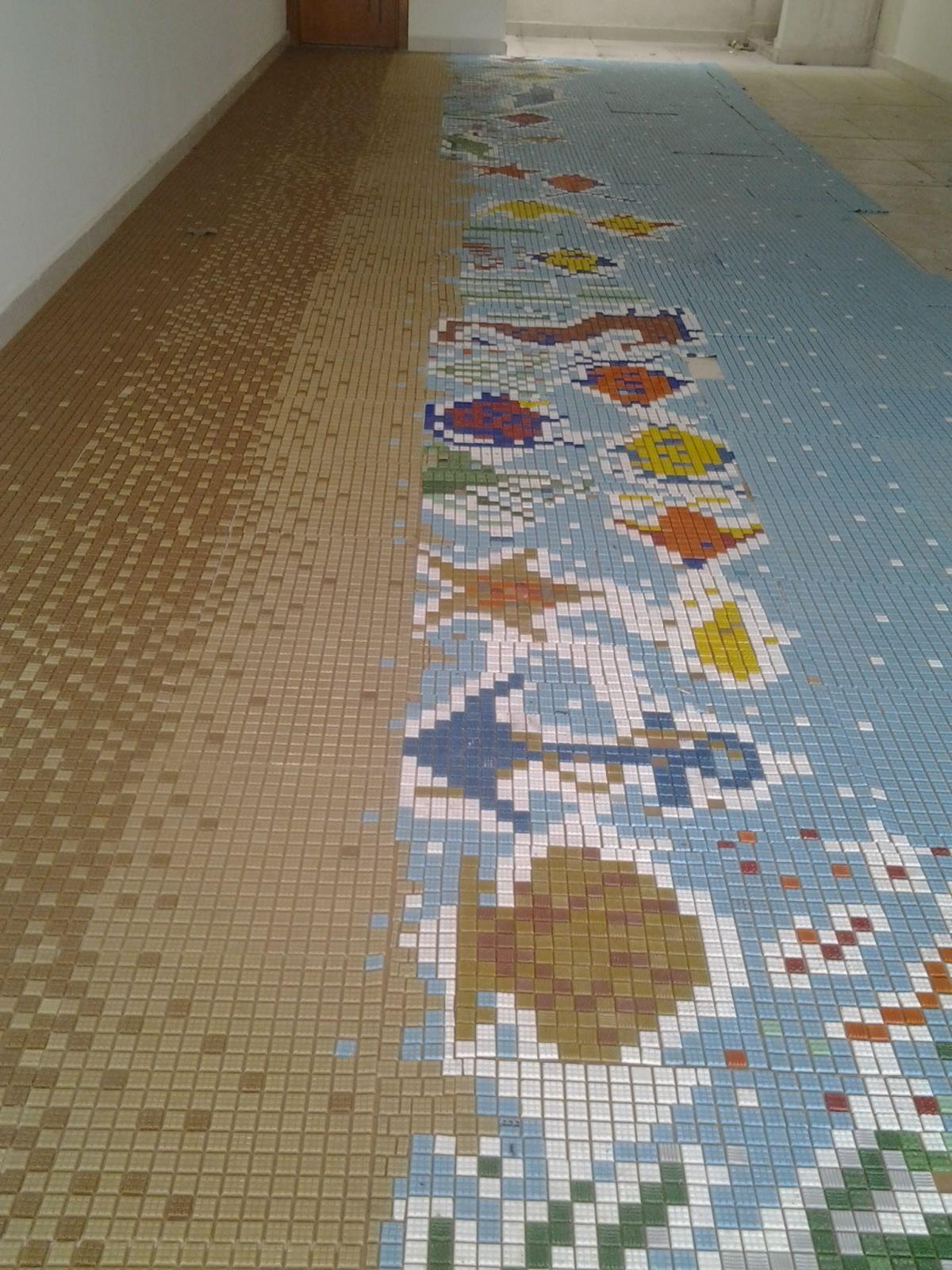 Painel marítimo em pastilhas de vidro 8,0m x 2,60m