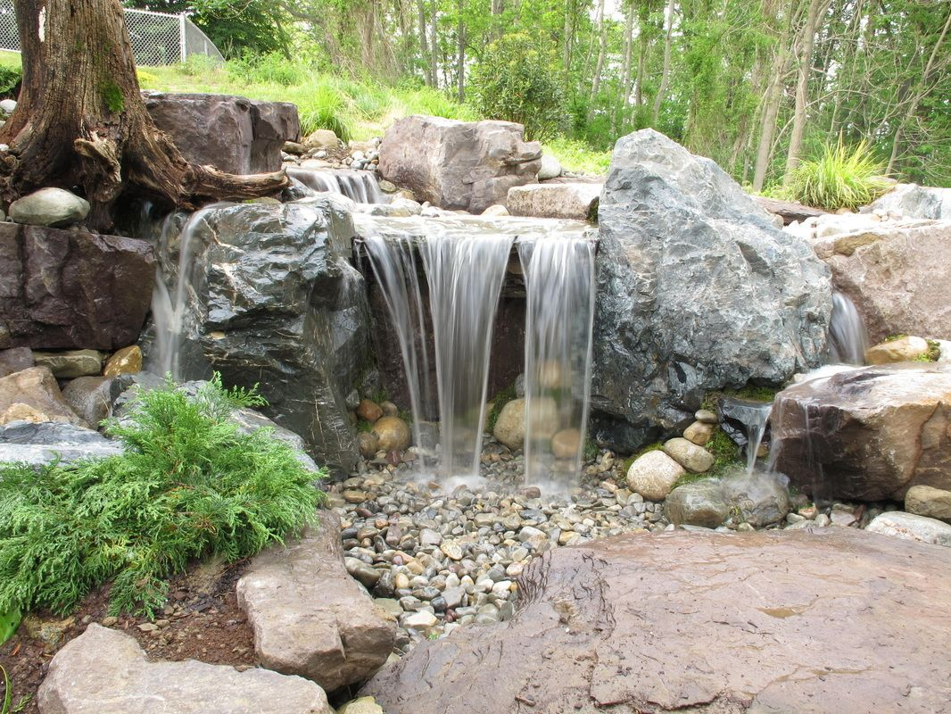 Back Yard Pondless Waterfalls   Don't Forget About The LED ...