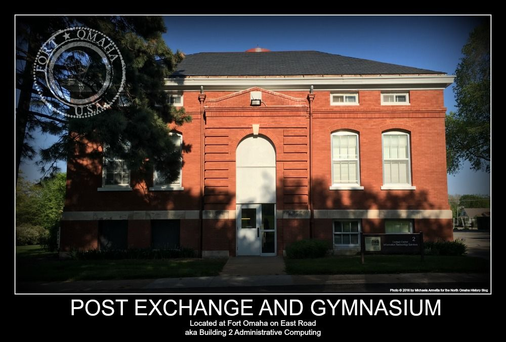 This is the Fort Omaha post exchange and gymnasium. https://northomahahistory.com/2015/10/07/a-history-of-fort-omaha/