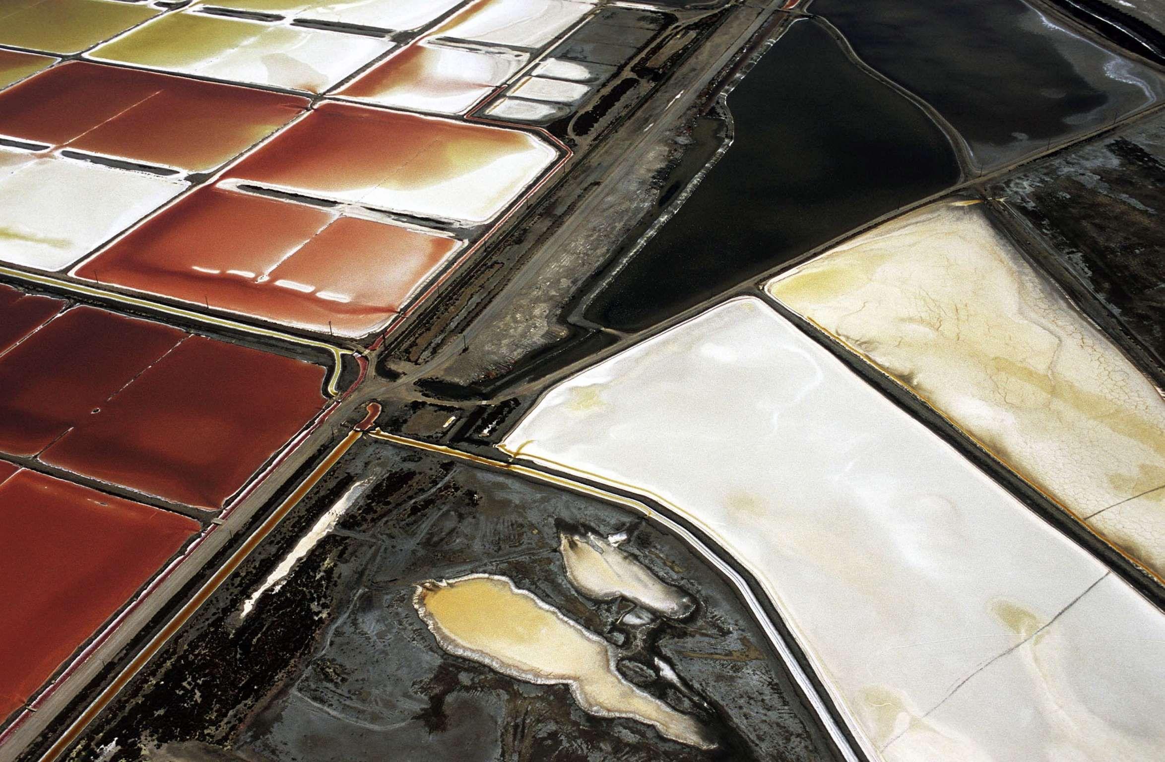 Aerial view of a salt bed Sandro Santioli/Solent News