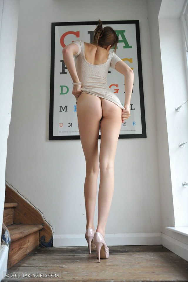 Young thin legs naked