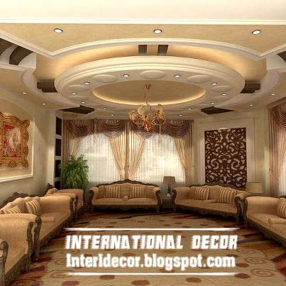 Contemporary Suspended Ceiling Interior Design For Living Room