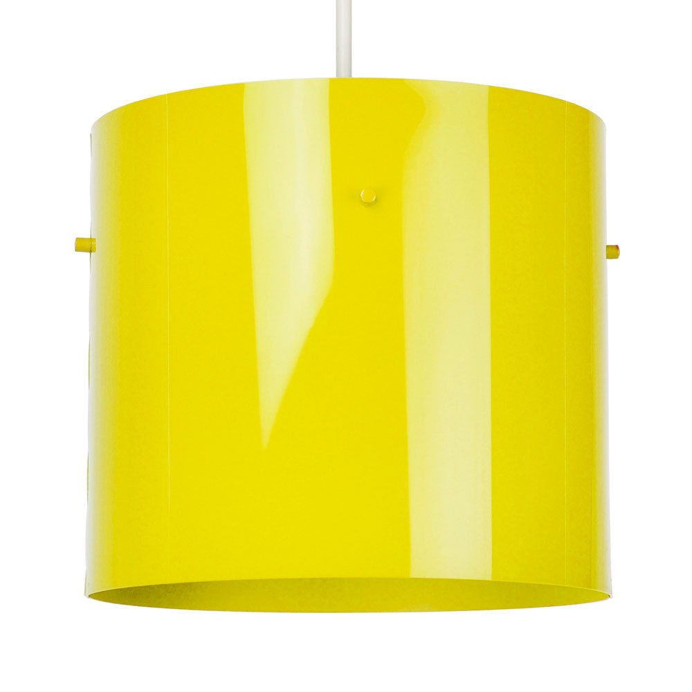 Contemporary gloss yellow cylinder ceiling light pendant lamp shade