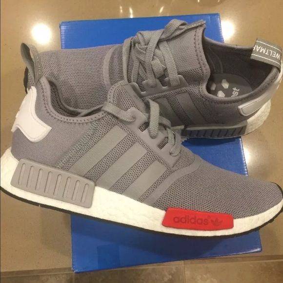 New Adidas NMD R1 men size 11 gray and red New Adidas NMD R1 men size