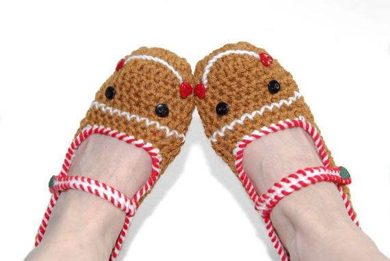 Hey, I found this really awesome Etsy listing at https://www.etsy.com/listing/117038651/crocheted-gingerbread-slippers-crochet