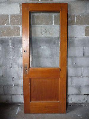 Antique Craftsman Style Entry Door C 1915 Original Glass