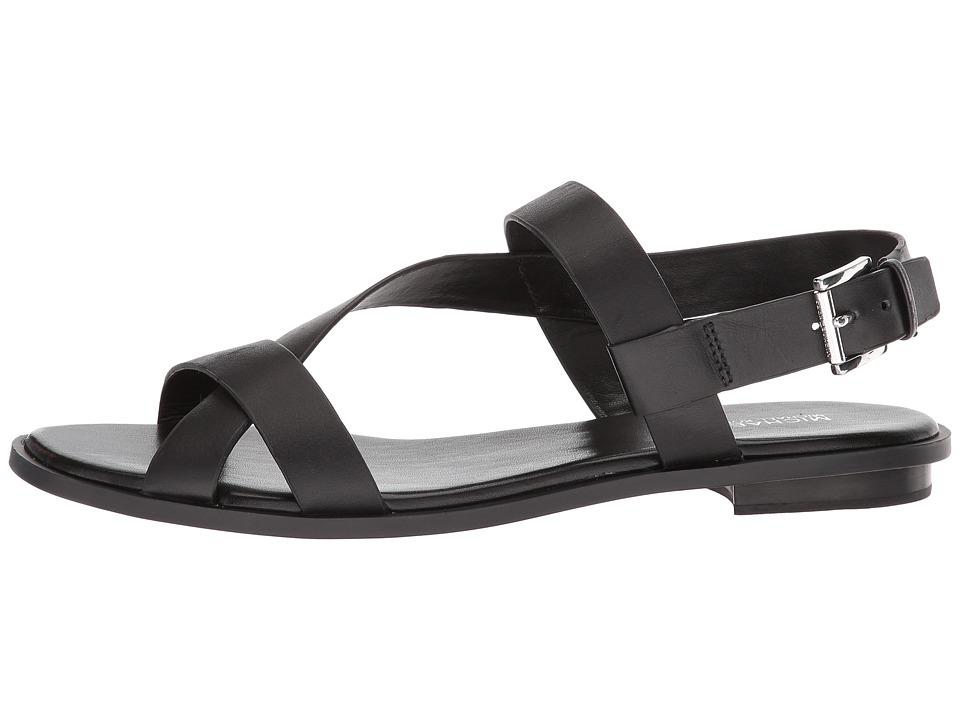 02069efa71f MICHAEL Michael Kors Mackay Flat Sandal Women s Sandals Black Vachetta