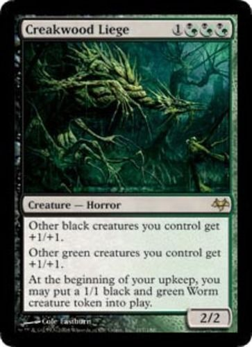 Creakwood Liege Magic The Gathering Mtg Rare Green Black