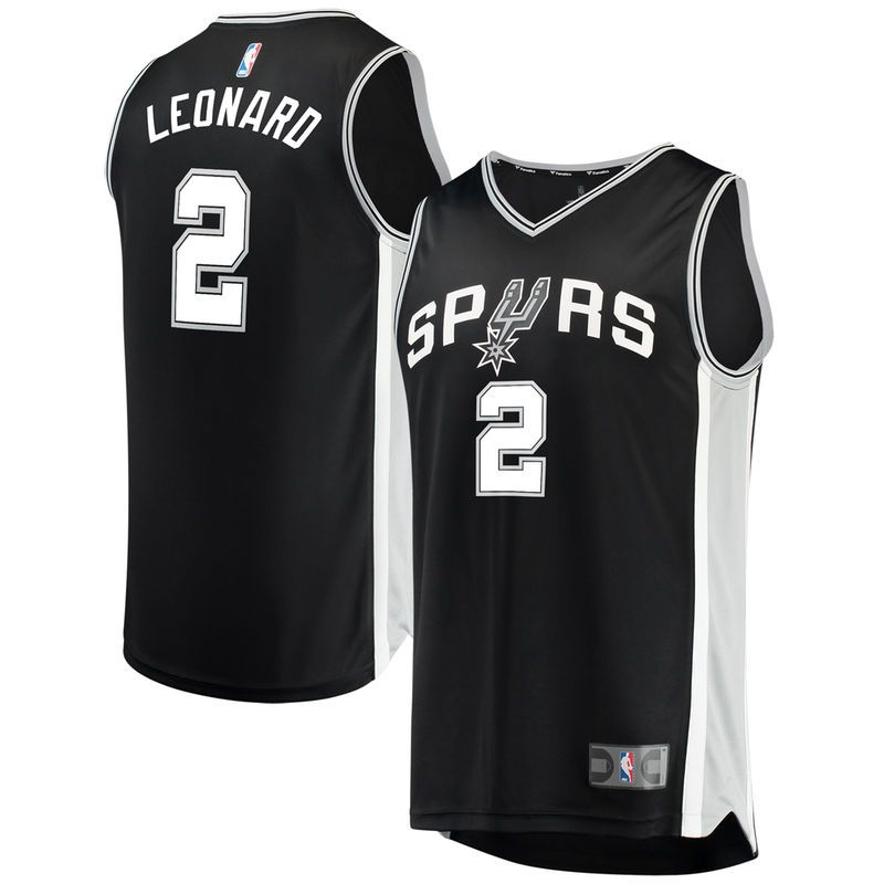 aa59a867add Kawhi Leonard San Antonio Spurs Fanatics Branded Youth Fast Break Replica  Jersey Black - Icon Edition