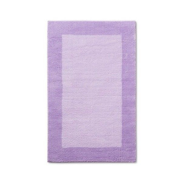 Pillowfort Border Accent Rug - Purple found on Polyvore featuring home, rugs, purple, border area rugs, purple area rugs, purple rug and border rug Top Home Products...