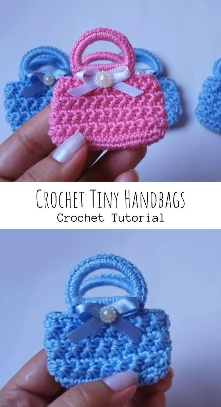 Häkeln Sie kleine Handtaschen – #Crochet #Handbags #souvenir #Tiny –
