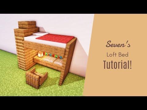 マインクラフト家具 オシャレなベッドの作り方 内装建築 Youtube