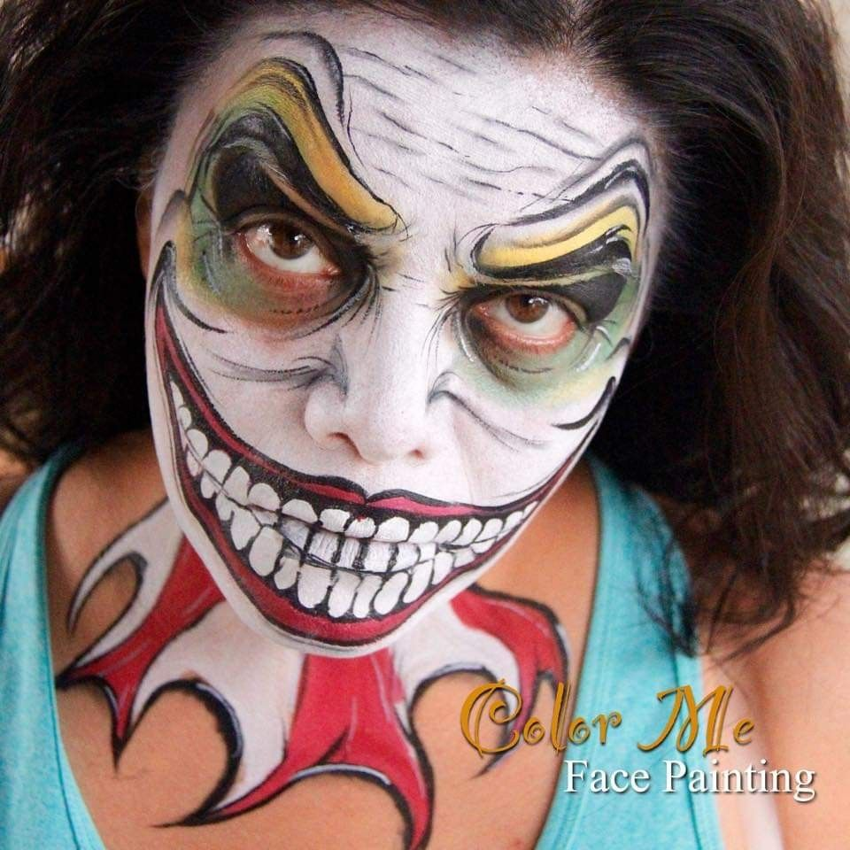 Pin by Gina Watkins on Evil Clown Face Painting Face