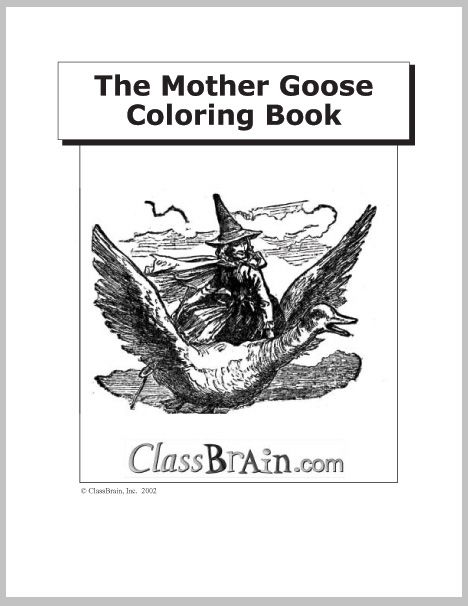 The Mother Goose Coloring Book. 20 pages of free coloring