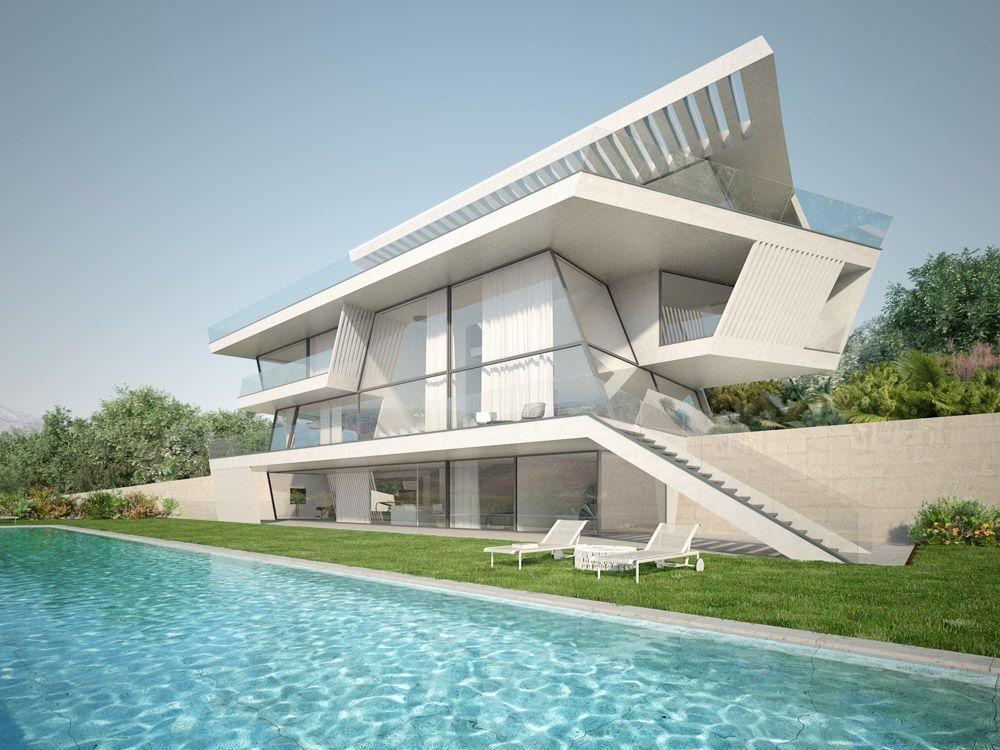 Renders exteriores casa unifamiliar en barcelona - Despachos de arquitectura en barcelona ...