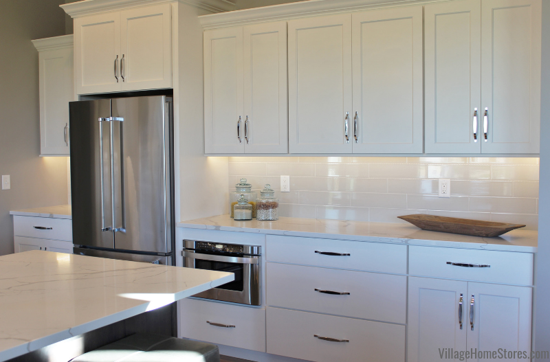 Bettendorf Iowa Kitchen With White Painted Cabinets A Gray
