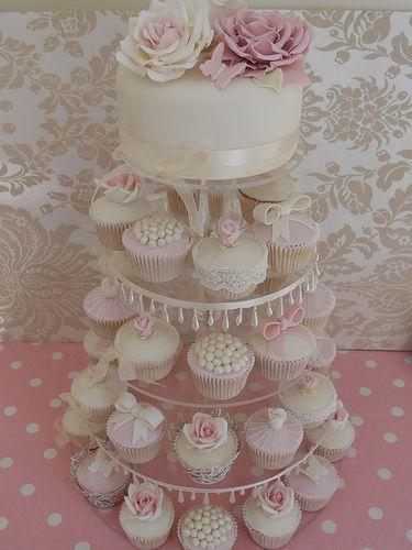 Vintage Cupcake Wedding Cakes