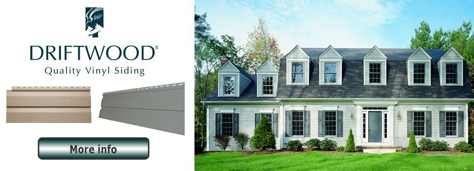 Now Stocking Gentek Driftwood Siding In Two Colors Pebble Storm 6 27 Pc Learn More Http Happyharrysdartmouth Com Vinyl Siding House Styles Siding