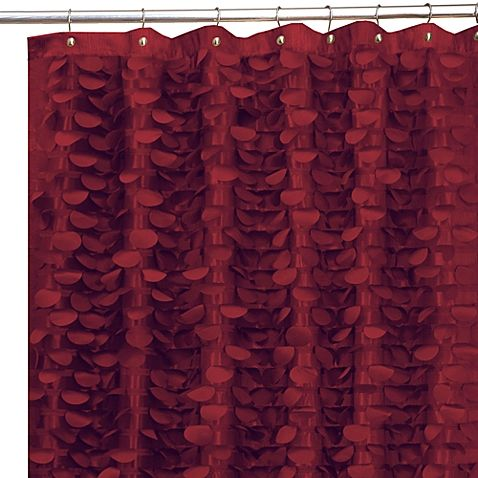 Gigi Burgundy 72 X Fabric Shower Curtain