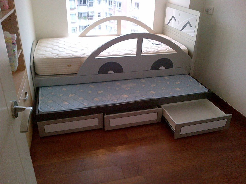 Great Trundle Bed Idea With Drawers And Thin Mattress