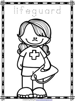 Free Community Helpers Tracing And Coloring Pages Community Helpers Theme Coloring Pages Community Helpers