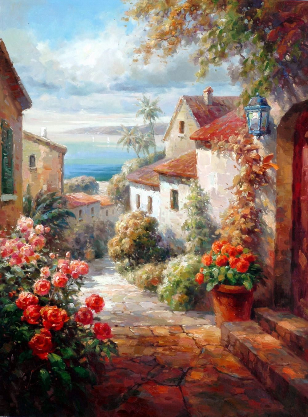 Best 25 Mediterranean Paintings Ideas On Pinterest