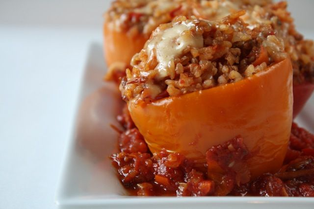 Forks Knives & Spades: Stuffed Peppers