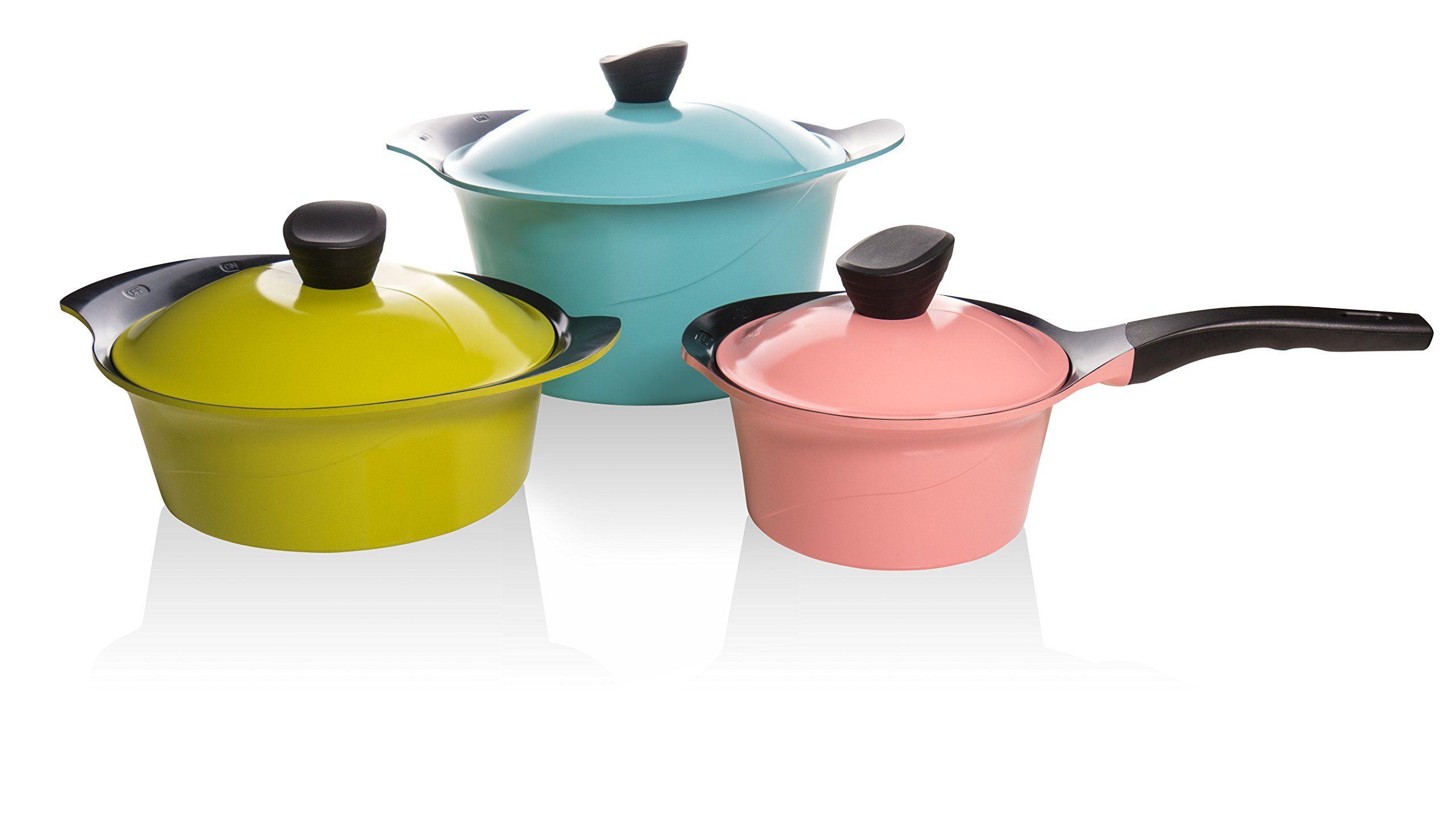 Denmark® 10-Piece Ceramic Nonstick Aluminum Cookware Set ... |Colorful Ceramic Cookware