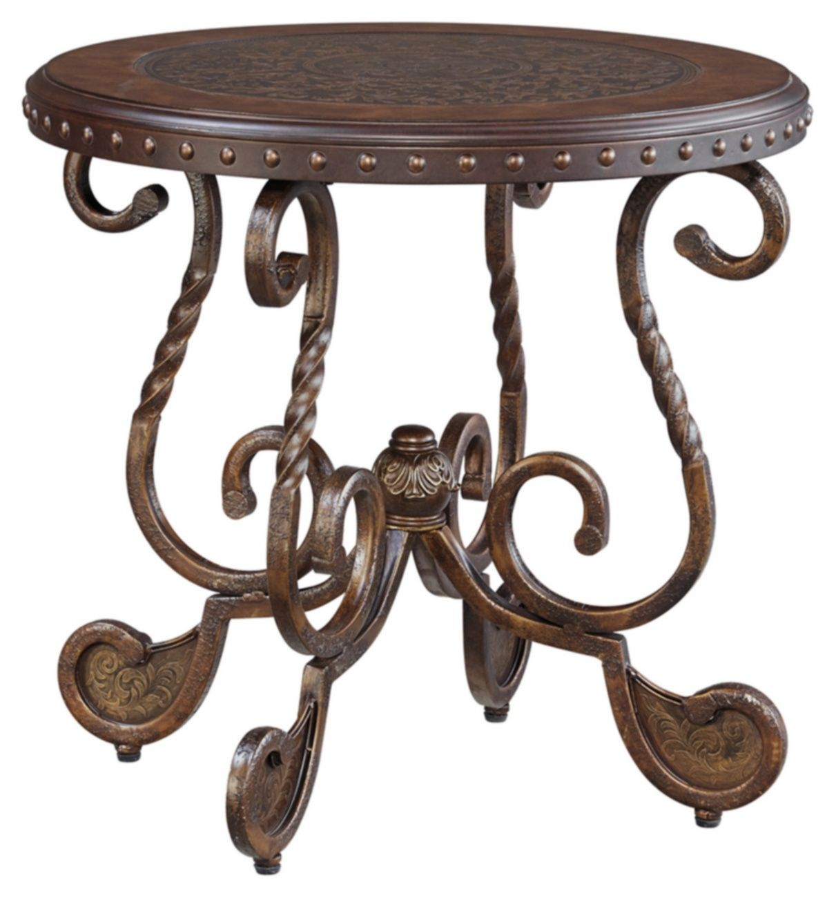 Signature Design Rafferty Round End Table - Ashley Furniture T382-6 #stainedwood