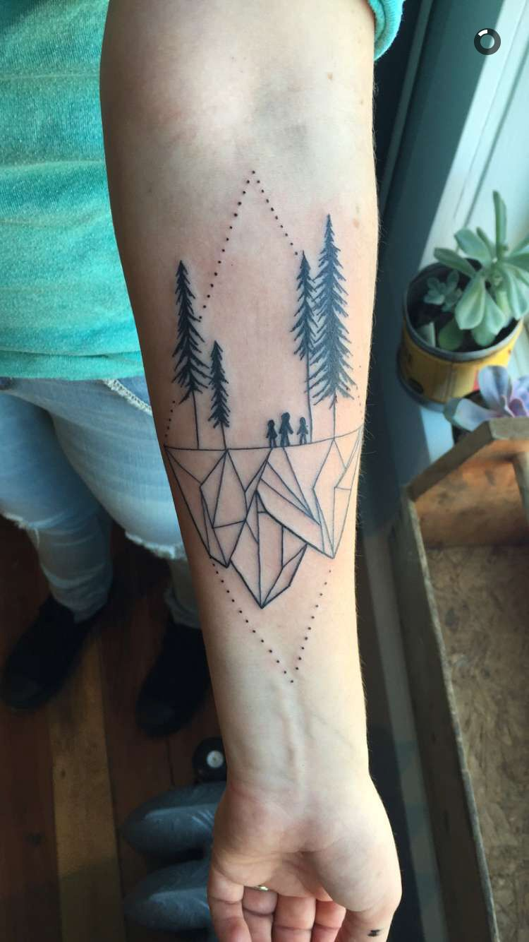 Geometric Landscape Tattoo By Vanessa Dong Vancouver Bc