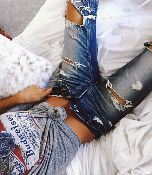 a2fb3df1af76 200++Cute+Ripped+Jeans+Outfits+For+Winter+2017+-+My+Cute+Outfits ...