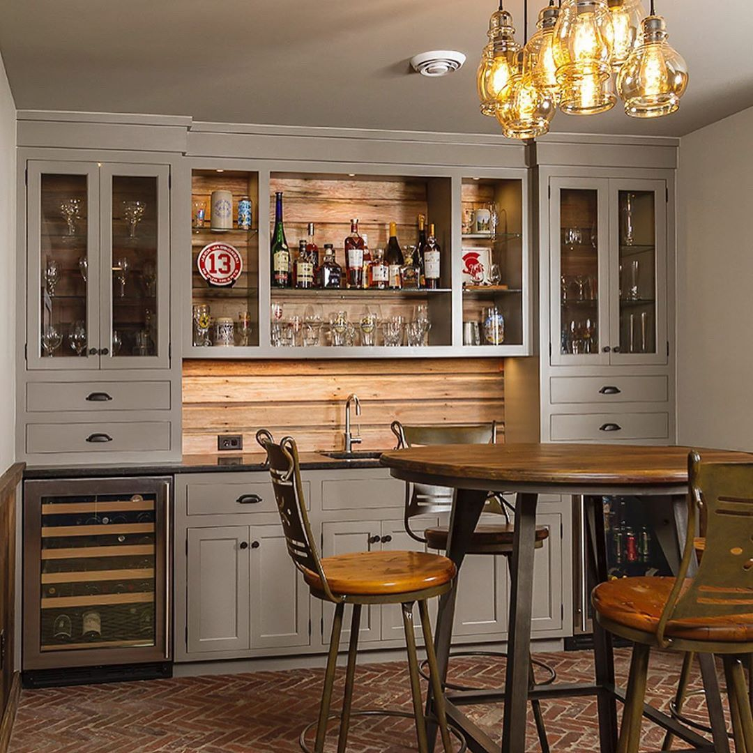 Indoor Home Bars: Image May Contain: Table And Indoor (With Images)
