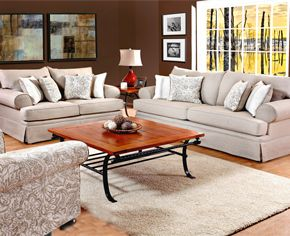 Comfy Cream Colored Couch And Love Seat To Neutralize And Calm The